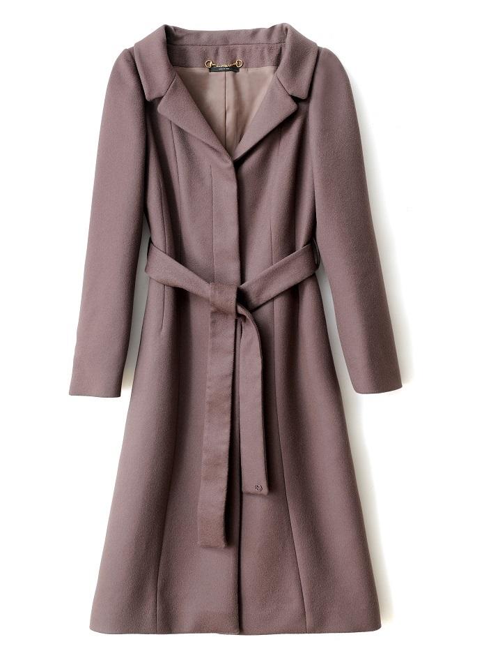 Palton din lana, de culoare cappuccino, Gucci