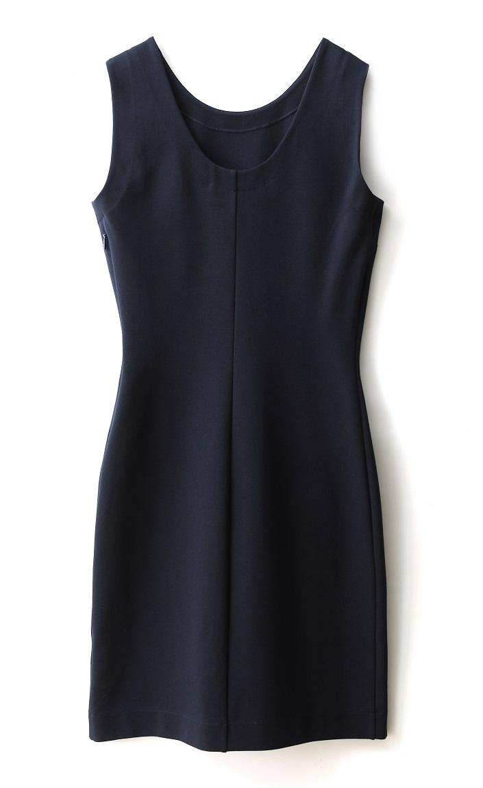 Rochie din vascoza bleumarin