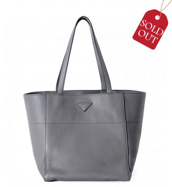 Geanta gri Prada Shopping Bag