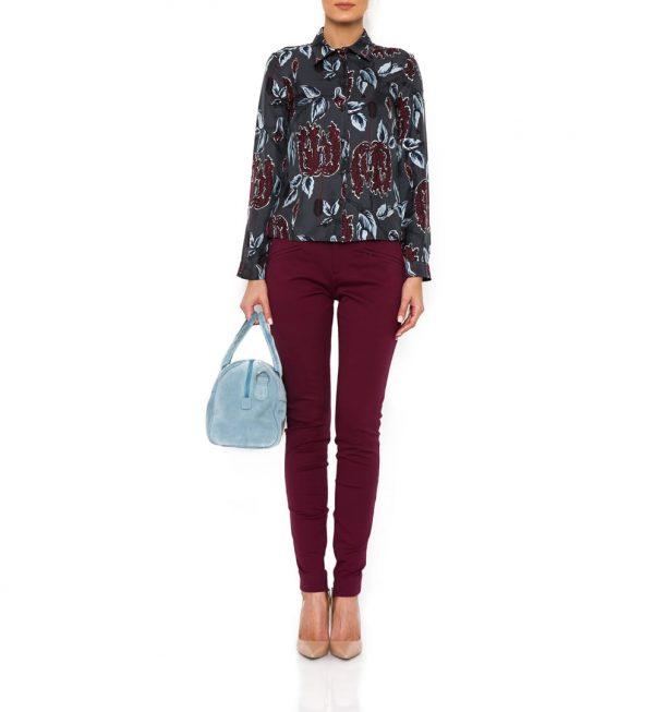 Pantaloni Gucci culoare burgundy