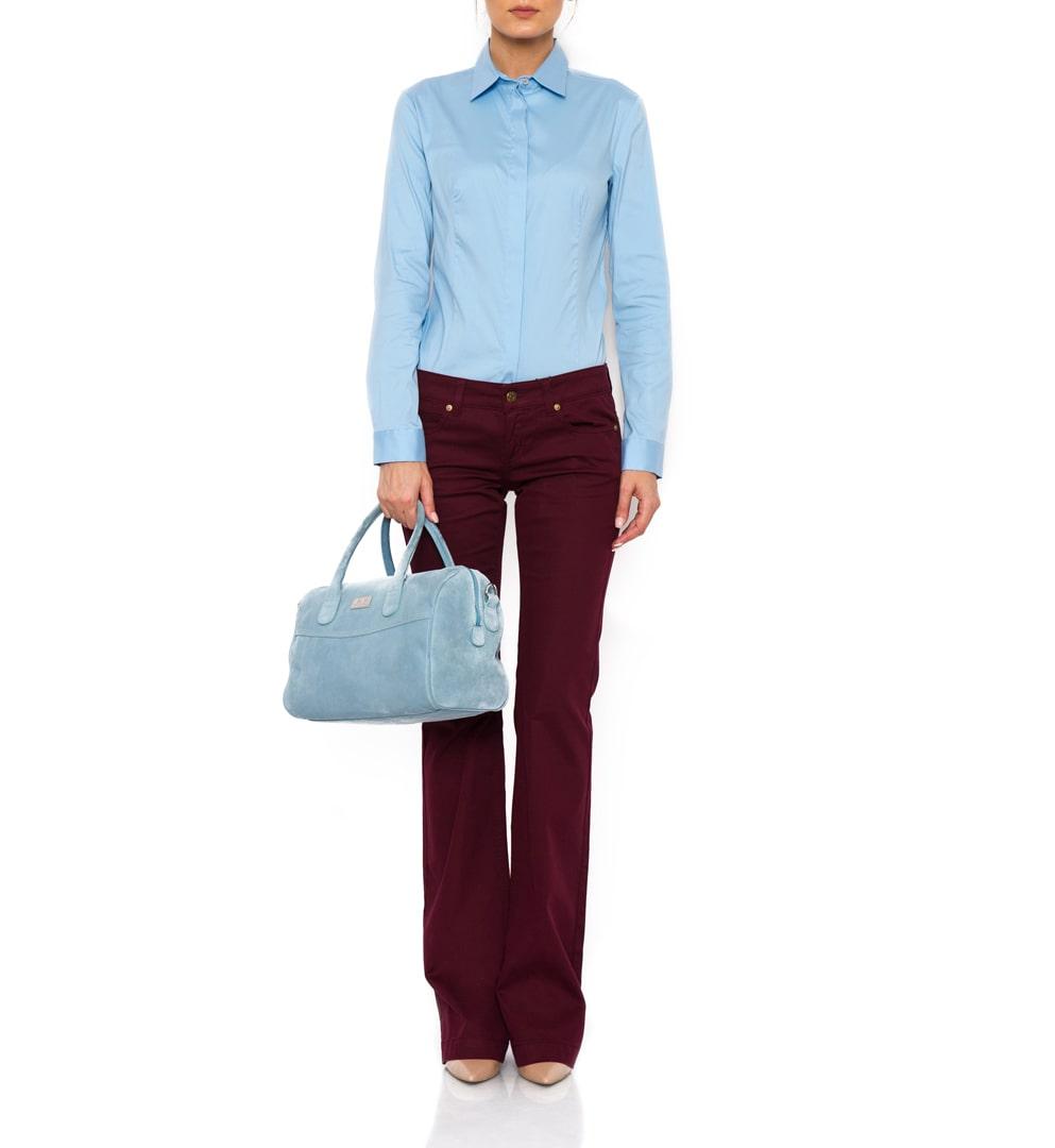 Jeans Gucci de culoare burgundy