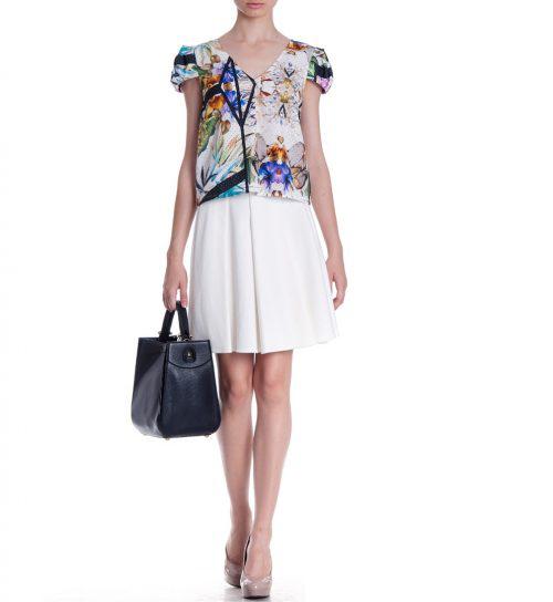 Bluza Roberto Cavalli cu imprimeu floral exotic