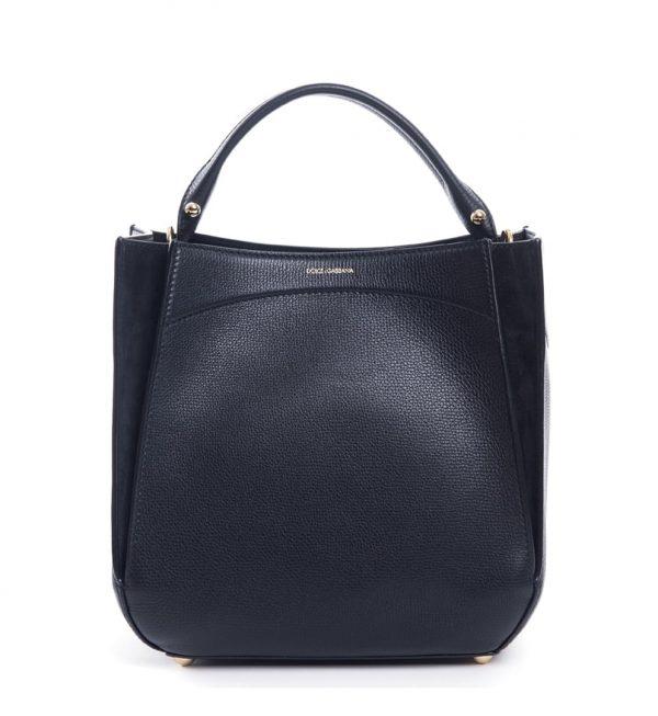 geanta-neagra-leather-suede-dolce-gabbana