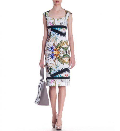 Rochie cu imprimeu floral multicolor