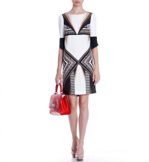 Rochie cu imprimeu geometric