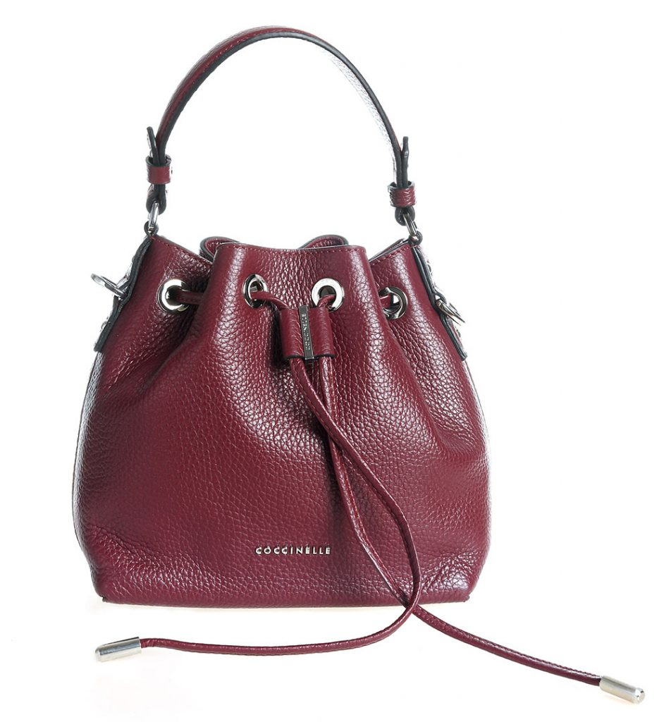 56a16bc090e3a Mini burgundy leather bucket bag Coccinelle - The Dresser