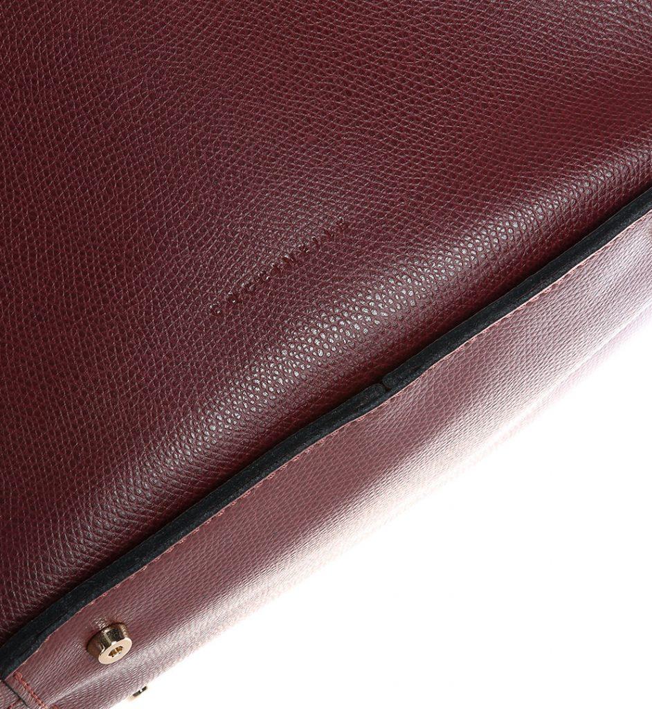 Shopper bag din piele culoare burgundy Coccinelle