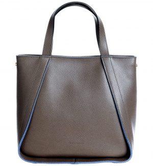 Shopper bag din piele culoare gri Coccinelle