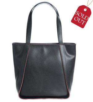Shopper bag din piele culoare neagra Coccinelle