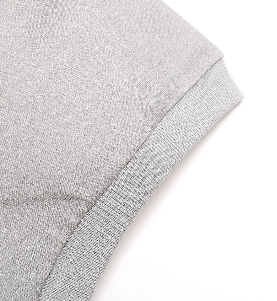 Tricou din bumbac de culoare light gri