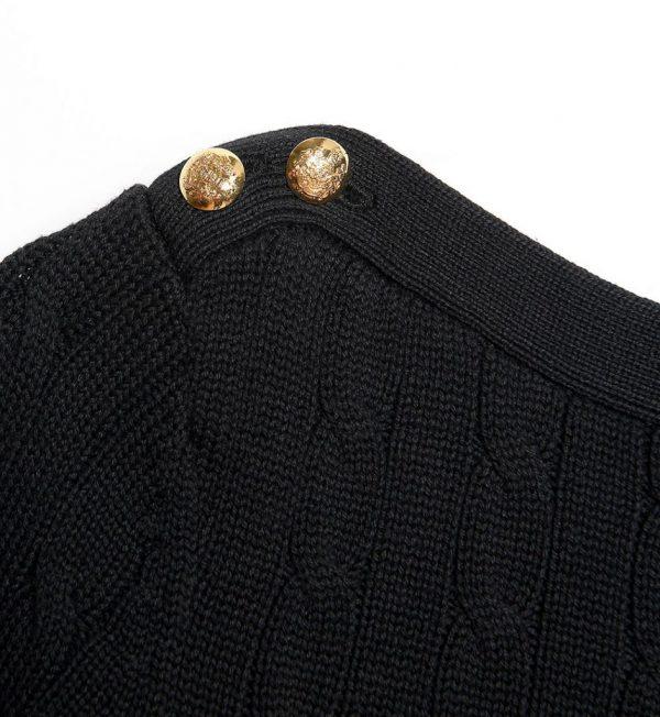 Pulover negru din bumbac
