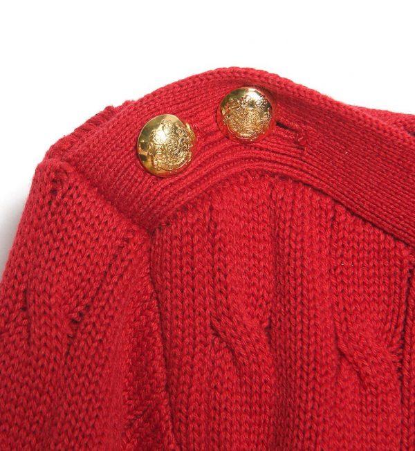 Pulover rosu din bumbac Lauren