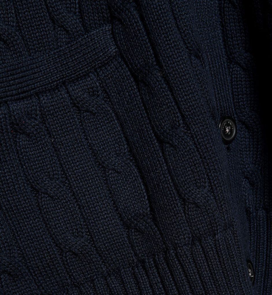 Pulover navy blue din bumbac