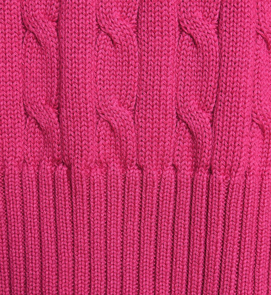 Pulover fucsia din bumbac Polo Collection