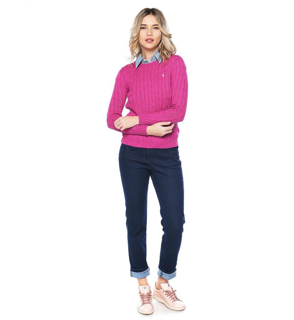 Sweater Fuchsia Cotton Polo Lauren Ralph eED2H9YWI