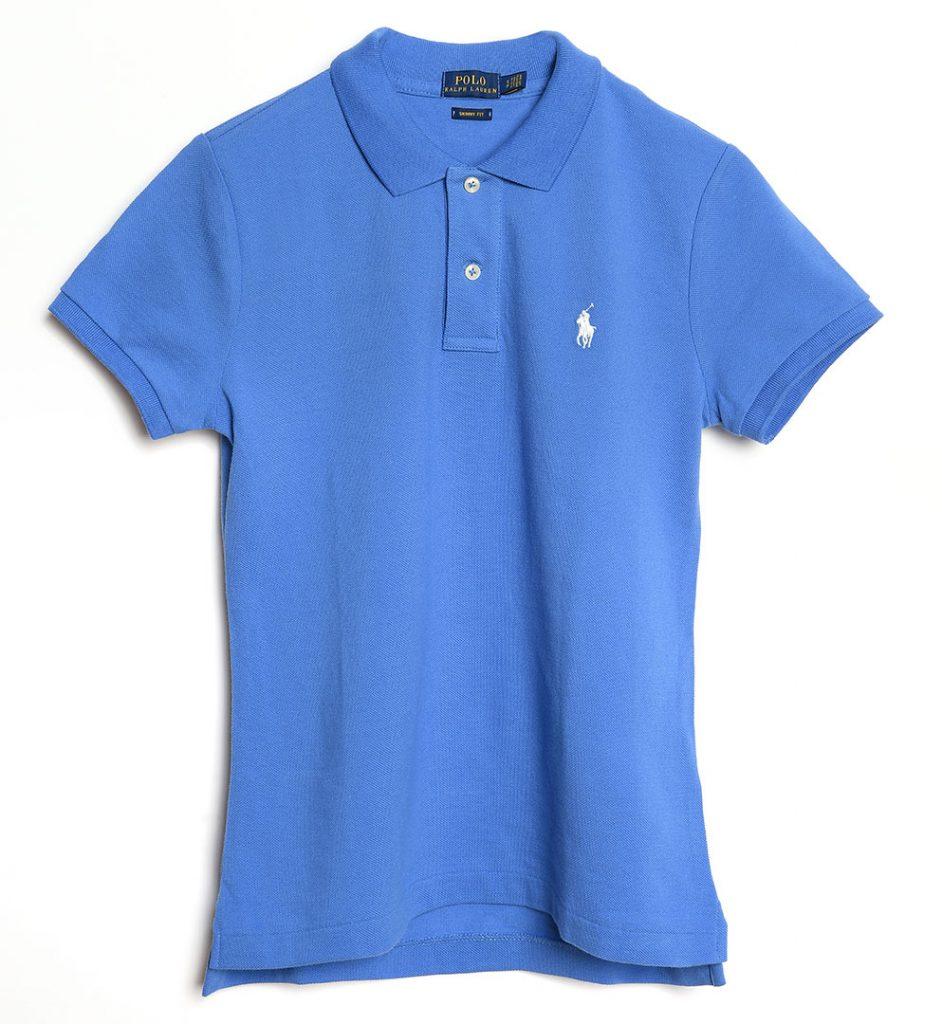 Tricou albastru din bumbac