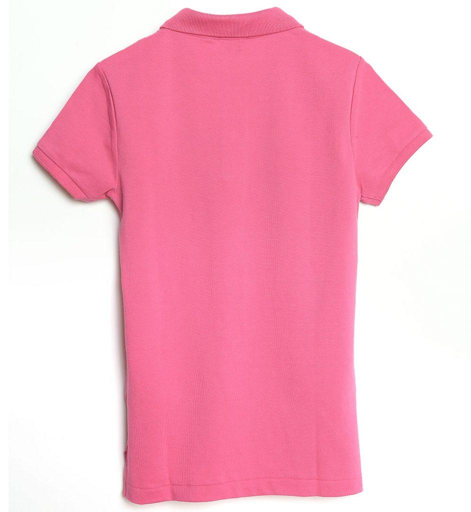 Tricou din bumbac de culoare roz