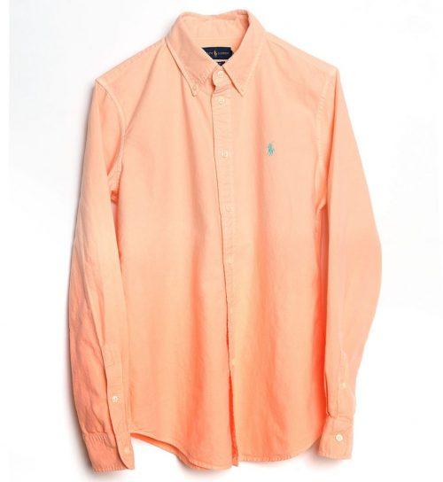 Camasa portocalie in degradee din bumbac