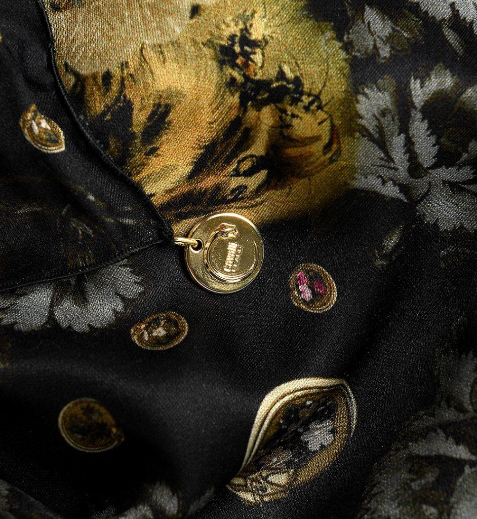 Esarfa cu imprimeu diverse culori Roberto Cavalli