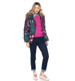 Jacheta cu imprimeu floral multicolor