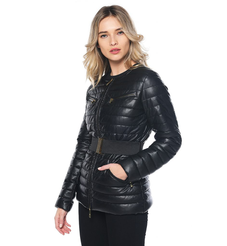 low priced d6052 65227 Black jacket with elastic waistband Class Roberto Cavalli