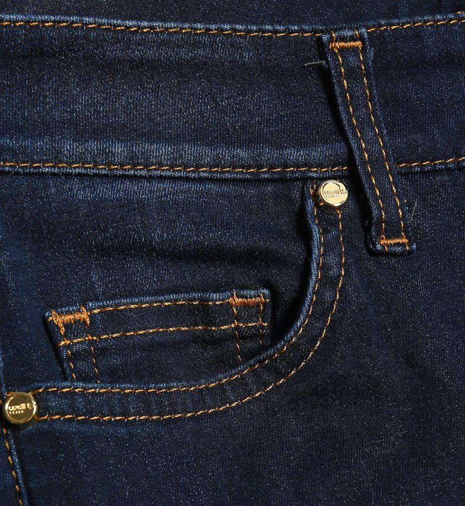 Jeans bleumarin croiala usor evazata