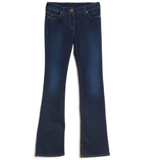 Jeans bluemarin croiala usor evazata