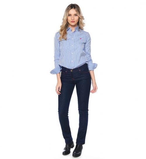 Jeans navy blue cu croiala dreapta Roberto Cavalli