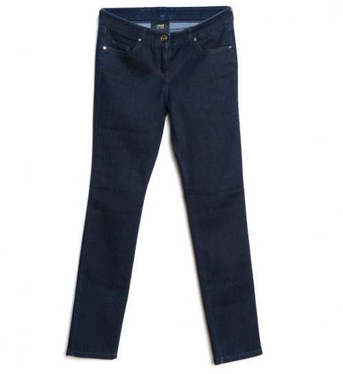 Jeans navy blue cu croiala dreapta