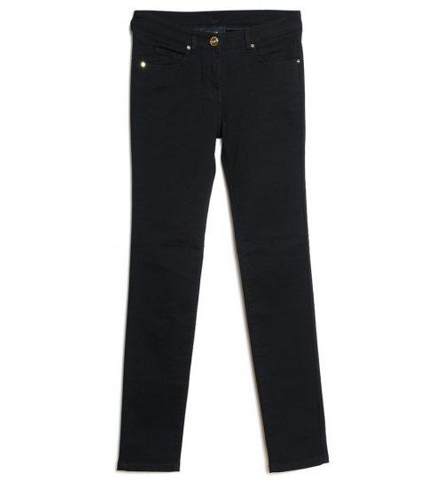 Jeans de culoare neagra si croiala dreapta