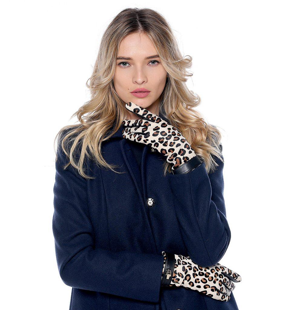 8d61fe5d Leopard print black leather gloves Class Roberto Cavalli - The Dresser