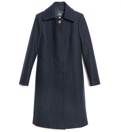 Palton navy blue croiala clasica