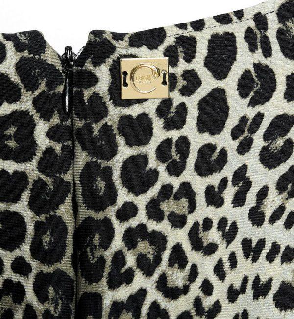 Rochie neagra cu imprimeu animal print