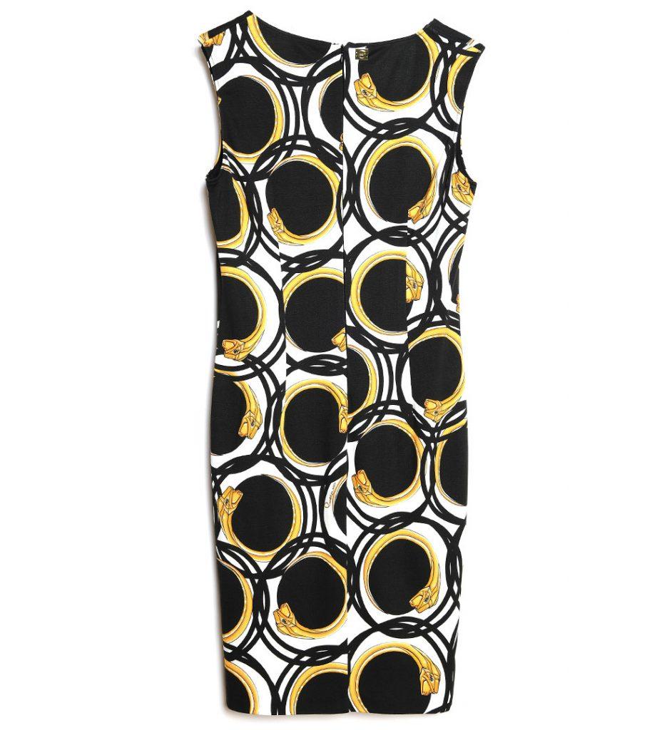 Rochie neagra cu imprimeu diverse culori
