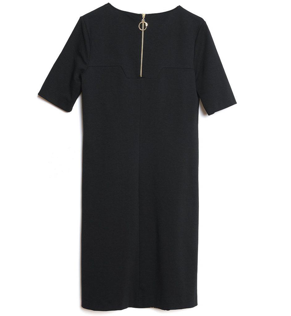 Rochie neagra cu imprimeu specific