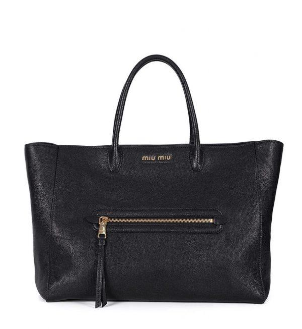 Shopper bag piele neagra