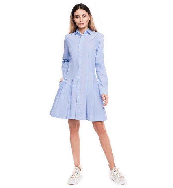 Rochie light blue din bumbac