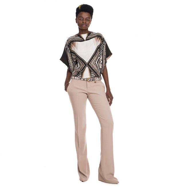 Bluza Roberto Cavalli cu imprimeu geometric