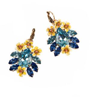 Cercei cu cristale albastre Swarovski